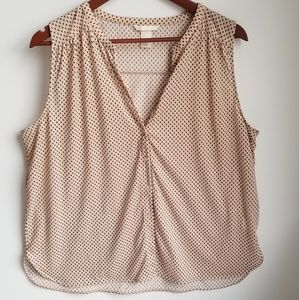 H&M Button Up Drapey Sleeveless Blouse L